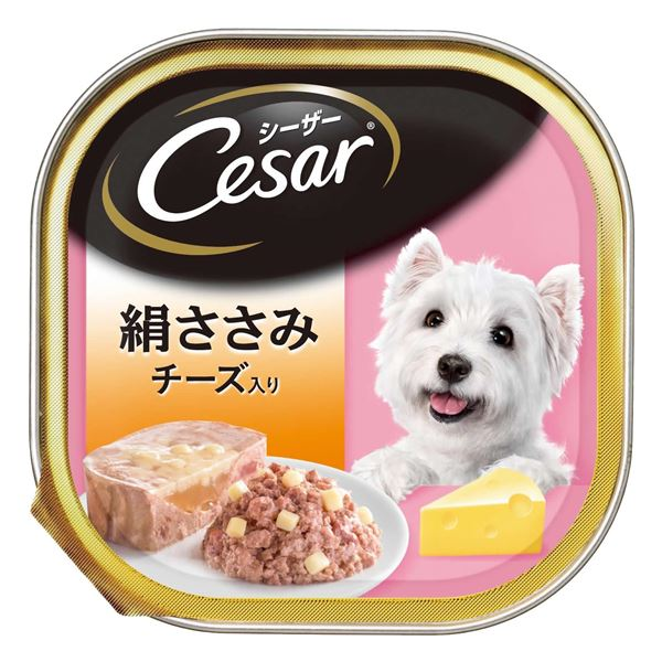 (まとめ)シーザー 絹ささみ チーズ入り 100g【×96セット】【ペット用品・犬用フード】