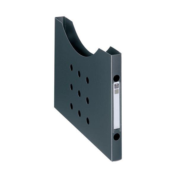 (まとめ) ライオン事務器ボックスファイル(ノイル) スリムタイプ A4ヨコ 背幅25mm ブラック BF-12n 1個 【×30セット】