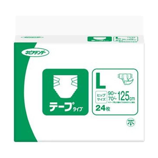 【送料無料】(まとめ)王子ネピア ネピアテンダー テープタイプL 1パック(24枚)【×5セット】