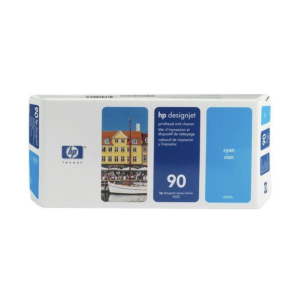 【送料無料】(まとめ) HP90 プリントヘッド/クリーナー シアン C5055A 1個 【×10セット】