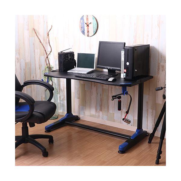 【送料無料】ゲーミングデスク/作業テーブル 【イージー01 ブルー】 幅120×奥行65cm 『GAMING DESK XeNO ゼノ』【代引不可】