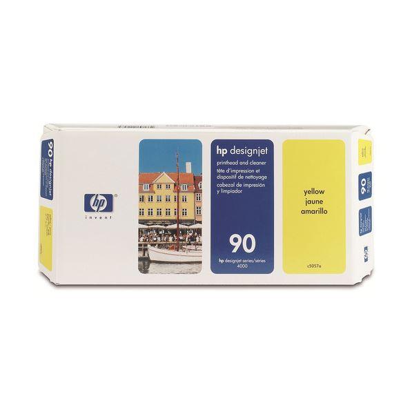 【送料無料】(まとめ) HP90 プリントヘッド/クリーナー イエロー C5057A 1個 【×10セット】