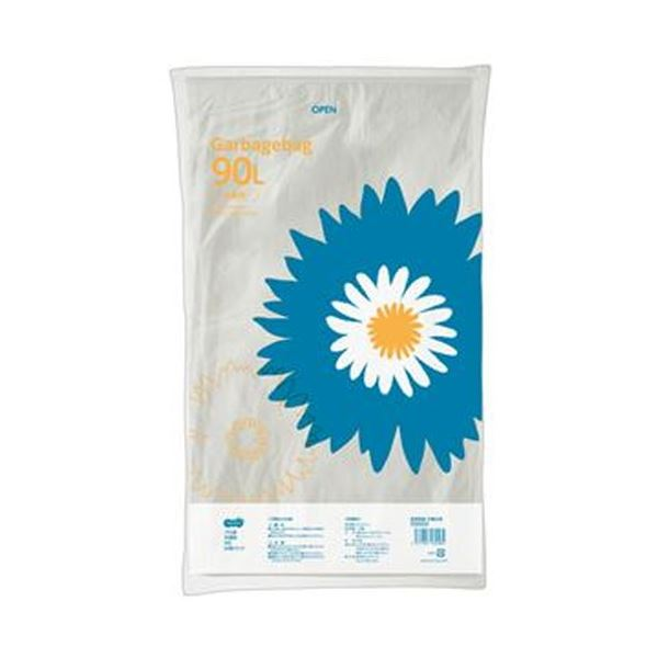 【送料無料】(まとめ)TANOSEE ゴミ袋 半透明 90L 1パック(20枚)【×20セット】