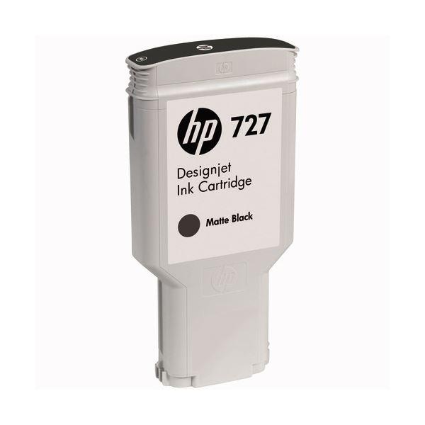 【送料無料】(まとめ) HP727 インクカートリッジ 顔料マットブラック 300ml C1Q12A 1個 【×10セット】
