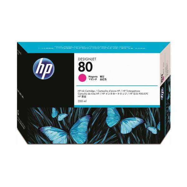 【送料無料】(まとめ) HP80 インクカートリッジ マゼンタ 350ml 染料系 C4847A 1個 【×10セット】