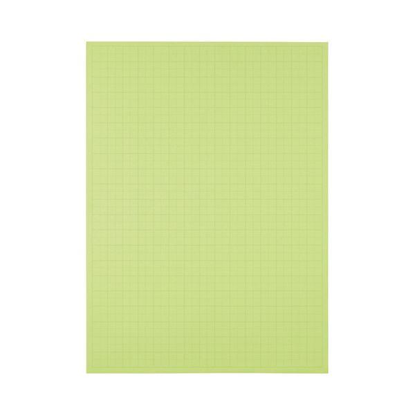 (まとめ) TANOSEE 模造紙(プルタイプ) 本体 788×1085mm 50mm方眼 ウグイス 1ケース(20枚) 【×10セット】