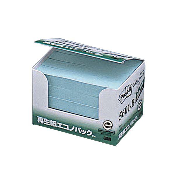 【送料無料】(まとめ) 3M ポスト・イット エコノパックふせんハーフ 再生紙 75×12.5mm ブルー 5601-B 1パック(20冊) 【×10セット】