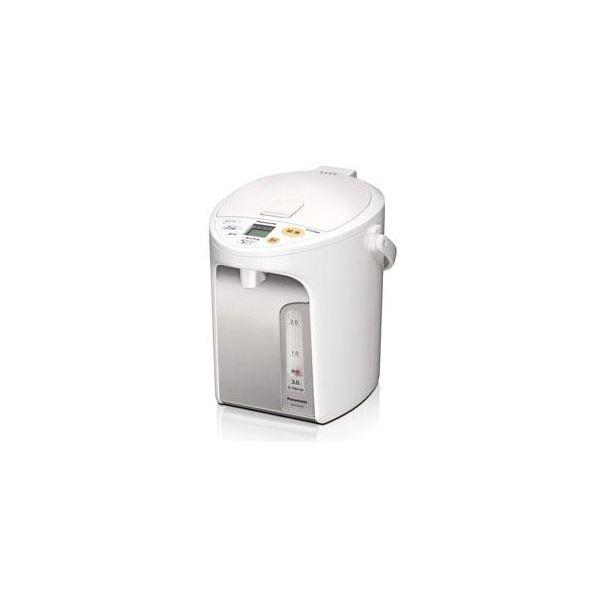 【送料無料】Panasonic 電動給湯式電気ポット (3.0L) ホワイト NC-HU304-W