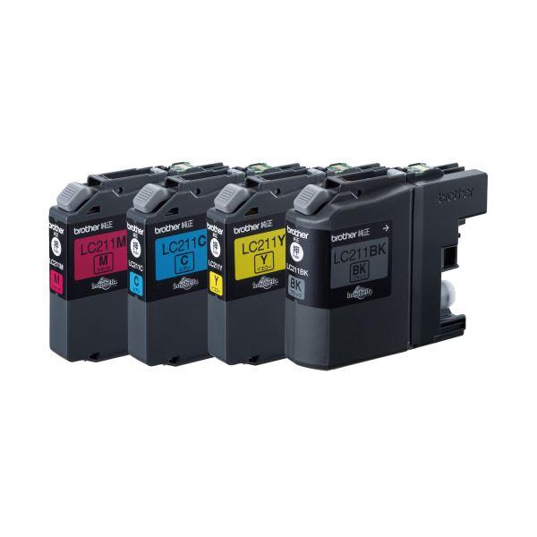【送料無料】(まとめ) ブラザー BROTHER インクカートリッジ お徳用 4色 LC211-4PK 1箱(4個:各色1個) 【×10セット】