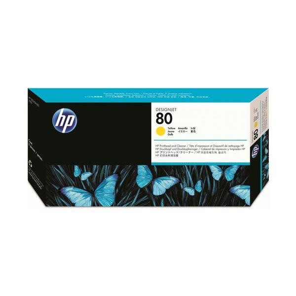 【送料無料】(まとめ) HP80 プリントヘッド/クリーナー イエロー C4823A 1個 【×10セット】