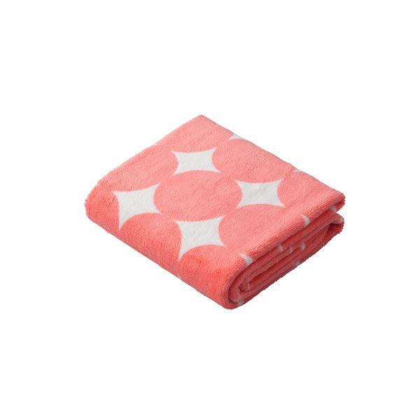 【送料無料】(まとめ) 水玉柄 ヘアドライタオル 【ピンク】 カットパイル仕上げ 『cararikuo カラリクオ』 【×48個セット】