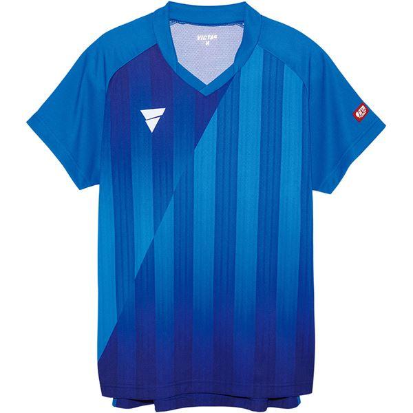 【送料無料】VICTAS(ヴィクタス) VICTAS V‐NGS052 ユニセックス ゲームシャツ 31467 ブルー 3XL
