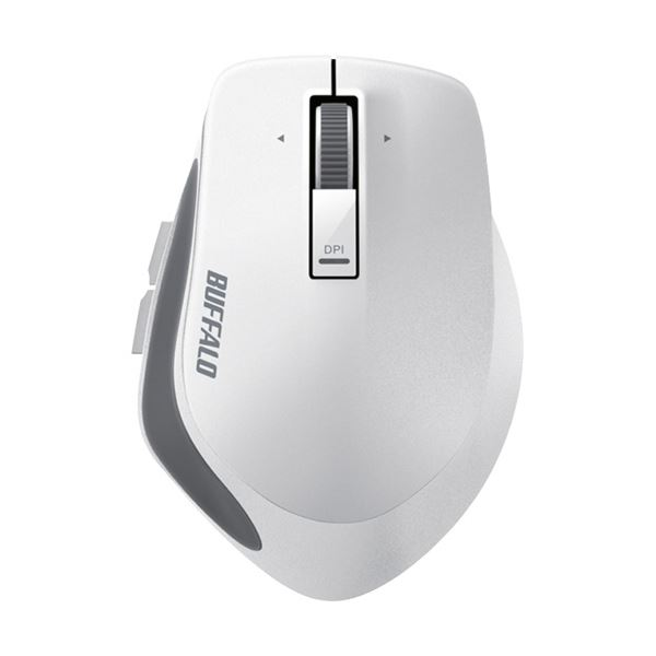 【送料無料】(まとめ) バッファロー 無線 BlueLEDプレミアムフィットマウス Mサイズ ホワイト BSMBW500MWH 1個 【×5セット】
