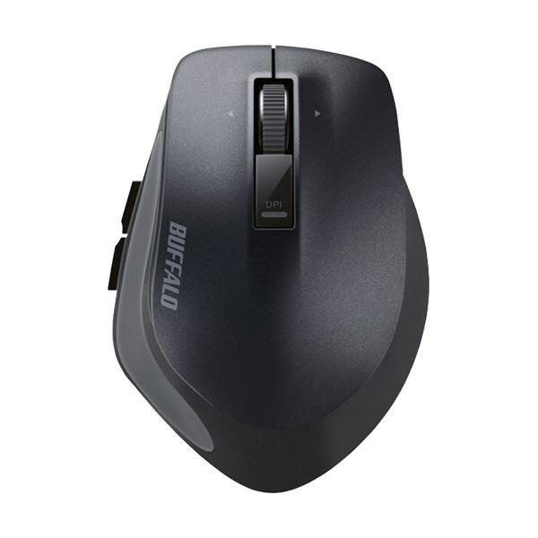 (まとめ) バッファロー 無線 BlueLEDプレミアムフィットマウス Mサイズ ブラック BSMBW500MBK 1個 【×5セット】