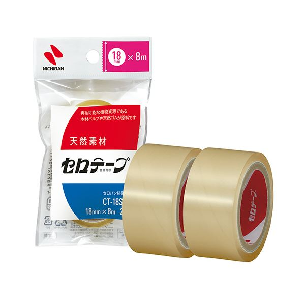 小巻 場所をとらないコンパクトな小巻 ◆セール特価品◆ 送料無料 まとめ ニチバン セロテープ 代引き不可 CT-18S2PN ×50セット 1パック 2巻 小巻18mm×8m