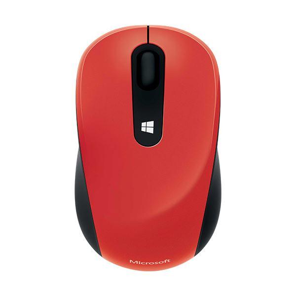 【無線タイプ】携帯に便利なコンパクトマウス 【送料無料】(まとめ) マイクロソフト スカルプトモバイルマウス ファイヤーレッド 43U-00040 1個 【×5セット】