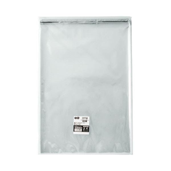 (まとめ) TANOSEE OPP袋 フタ・テープ付B3用 380×530+40mm 1パック(100枚) 【×10セット】