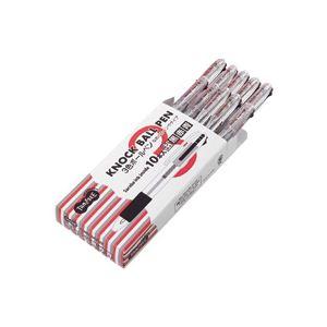 【送料無料】(まとめ) TANOSEE ノック式油性3色ボールペン(なめらかインク) 0.7mm 1セット(10本) 【×5セット】