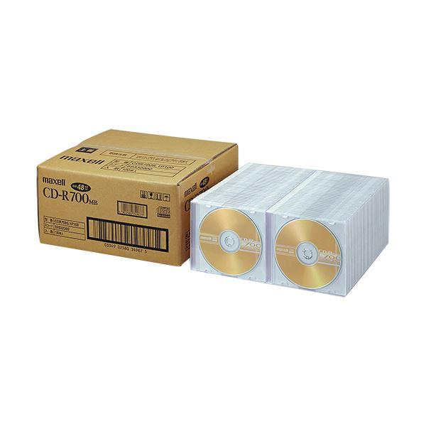 【送料無料】(まとめ)マクセル データ用CD-R 700MB 2-48倍速 ゴールドレーベル CDR700S.1P100 1パック(100枚)【×3セット】