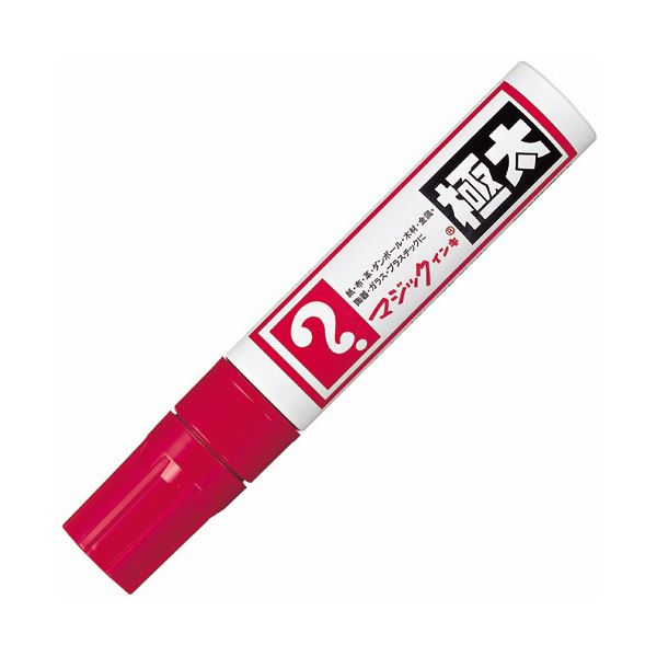 【送料無料】(まとめ) 寺西化学 油性マーカー マジックインキ 極太 赤 MGD-T2 1本 【×30セット】