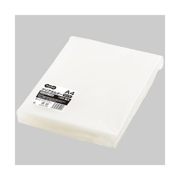 【送料無料】TANOSEE クリアホルダーエコノミータイプ A4 厚さ0.15mm 1セット(3000枚:100枚×30パック)