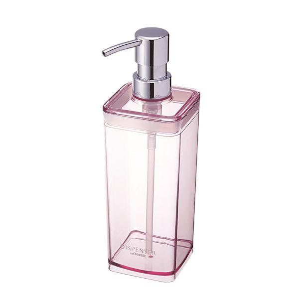 【送料無料】(まとめ) 広口 ディスペンサー/詰め替えボトル 【ピンク】 液体専用 バス用品 【40個セット】