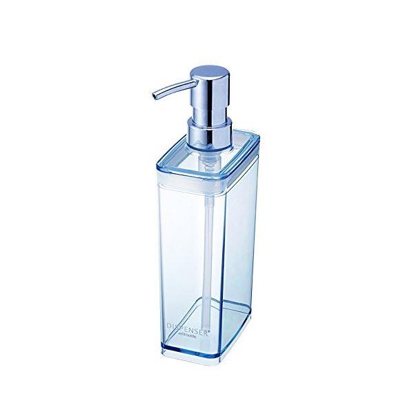 【送料無料】(まとめ) 広口 ディスペンサー/詰め替えボトル 【スリム ブルー】 液体専用 バス用品) 【40個セット】