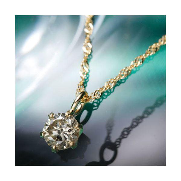 【送料無料】【訳あり・在庫処分】K18YGブラウンダイヤモンドペンダント/ネックレス