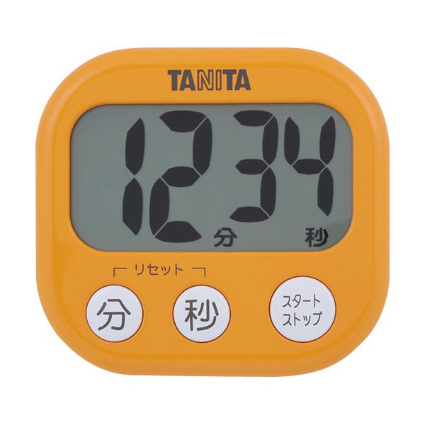 【送料無料】(まとめ)タニタ でか見えタイマーアプリコットオレンジ TD-384OR 1個【×10セット】