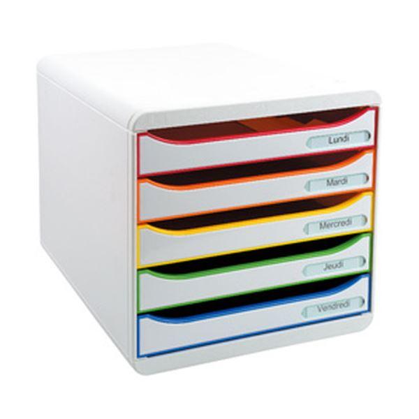 【送料無料】エグザコンタ レターケース BIGBOX PLUS A4縦型5段 ホワイト 309913D 1個
