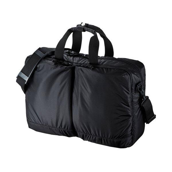 【送料無料】(まとめ)サンワサプライ 超軽量3WAYバッグ15.6型ワイド対応 ブラック BAG-SN1BK 1個【×3セット】
