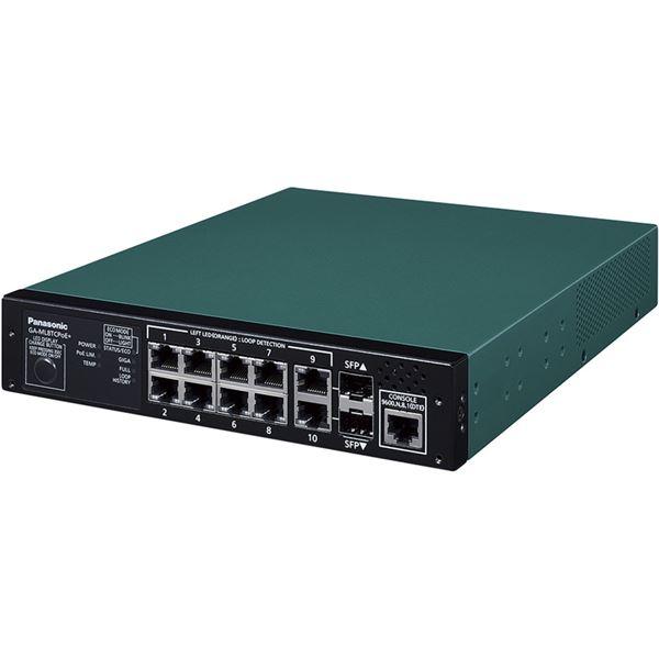 10ポート PoE給電スイッチングハブ GA-ML8TCPoE+