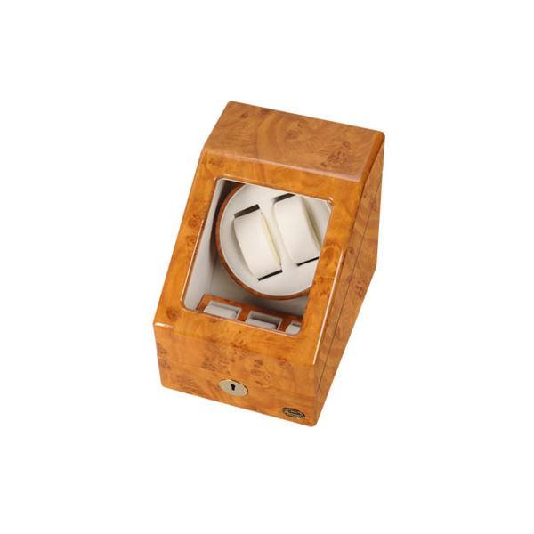 【送料無料】ローテンシュラガー 木製2連ワインディングマシーン ライトブラウン/薄木目 LU20001RW
