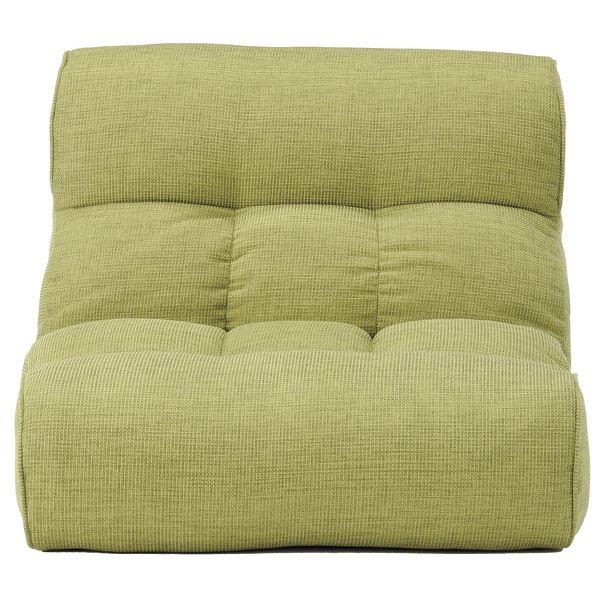 【送料無料】ソファー座椅子/フロアチェア 【グリーン】 ワイドタイプ 41段階リクライニング 『ピグレット2nd-ベーシック』