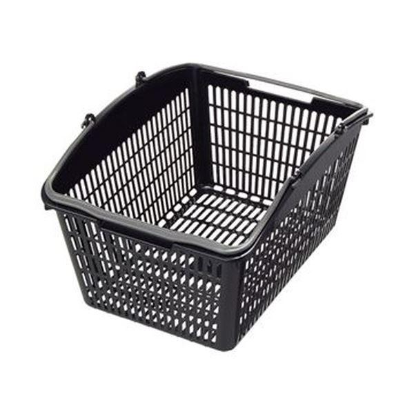 【送料無料】(まとめ)スーパーメイト ショッピングバスケット16L ブラック・ダークグレー PB-16BG 1個【×20セット】