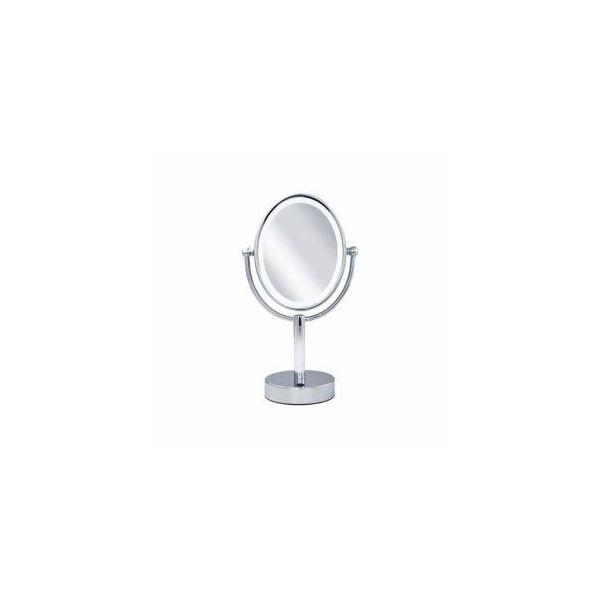 【送料無料】コイズミ 楕円型 LED拡大鏡(両面卓上)5倍 KBE-3110-S