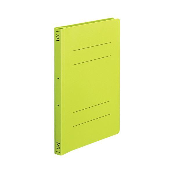 【送料無料】(まとめ) フラットファイル バインダー <PP> 発泡PP B5タテ 2穴 150枚収容 黄緑 10冊 【×10セット】