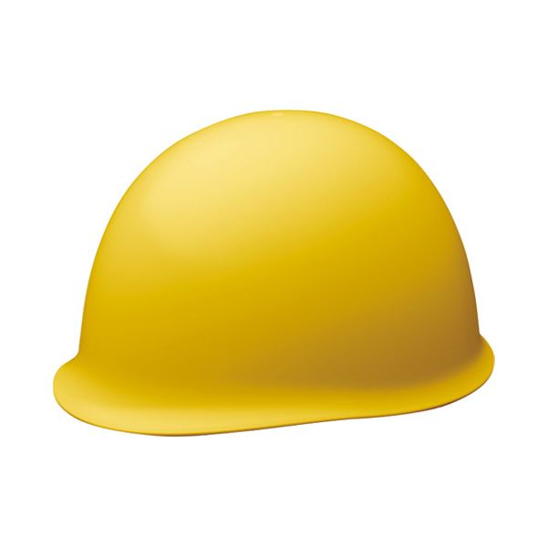 【送料無料】(まとめ)ミドリ安全 保護帽ツバなし イエロー HCSC-MB/Y【×5セット】