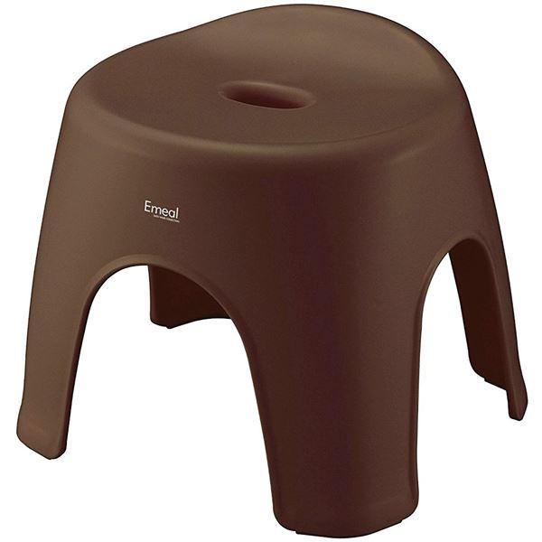 【送料無料】(まとめ) 風呂椅子/バスチェア 【抗菌・防カビ加工付き】 高さ28cm ブラウン バス用品 『Emeal エミール』 【16個セット】