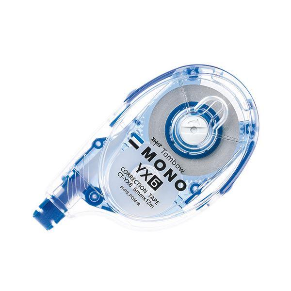 (まとめ) トンボ鉛筆 修正テープ モノYX6 本体 6mm幅×12m 青 CT-YX6 1個 【×30セット】