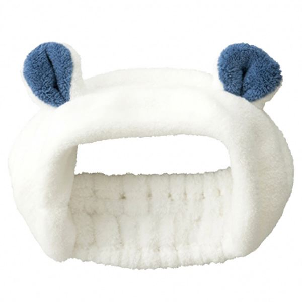【送料無料】(まとめ) ヘアバンド 【シロクマ】 マイクロファイバータオル使用 吸水アニマル 『carari zooie』 【×48個セット】