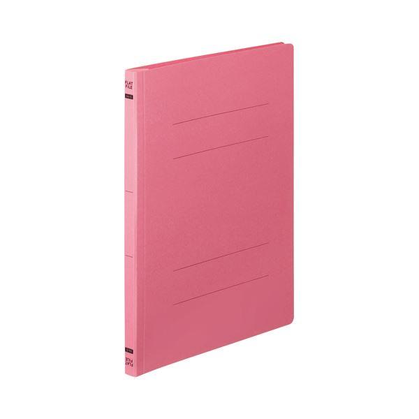 【送料無料】(まとめ) TANOSEE フラットファイルE A4タテ 150枚収容 背幅18mm ピンク 1パック(10冊) 【×30セット】