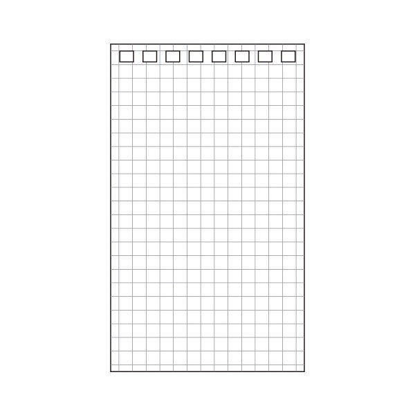 【送料無料】(まとめ) リヒトラブ AQUA DROPsツイストノート(メモサイズ) 専用リーフ 120×71mm 8穴 5mm方眼罫 N-1660S1パック(40枚) 【×100セット】