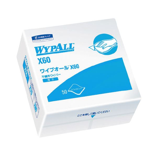 【送料無料】(まとめ)日本製紙クレシア ワイプオール X60 4ツ折り 60560【×30セット】