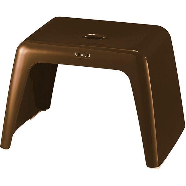 【送料無料】(まとめ) 抗菌 風呂椅子/バスチェア 【ブラウン】 高さ25cm ローチェアタイプ バス用品 『LIALO リアロ』 【14個セット】