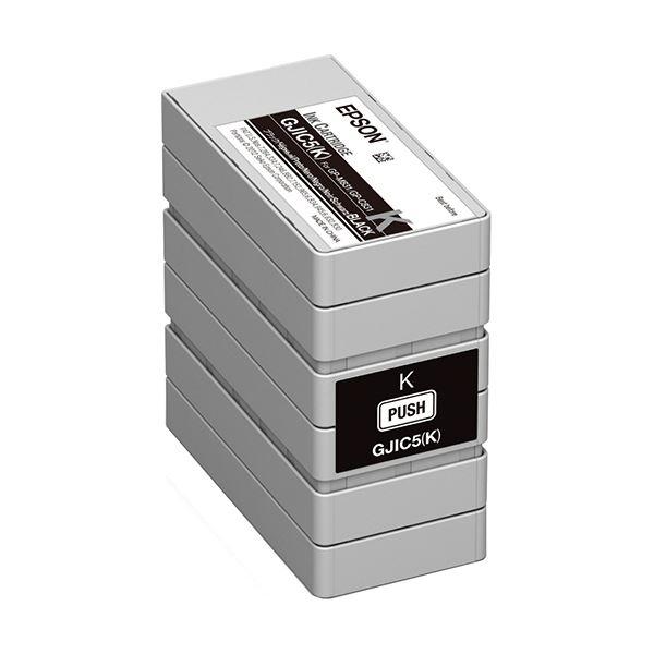 【送料無料】(まとめ)エプソン インクカートリッジ ブラックGJIC5K 1個【×3セット】