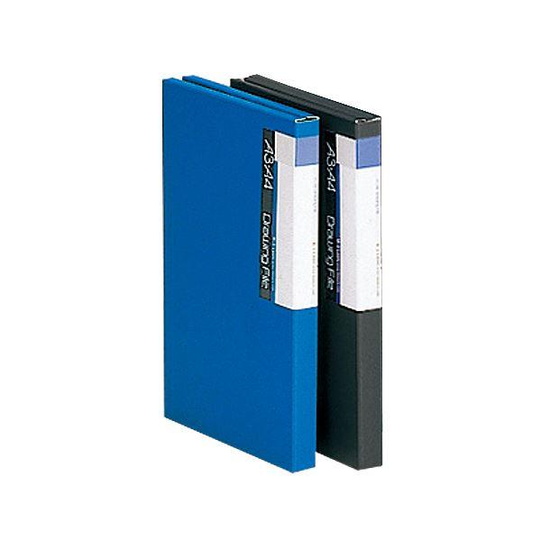 (まとめ) ライオン事務器 図面ファイル A2・A3背幅26mm 青 M-3 1冊 【×10セット】