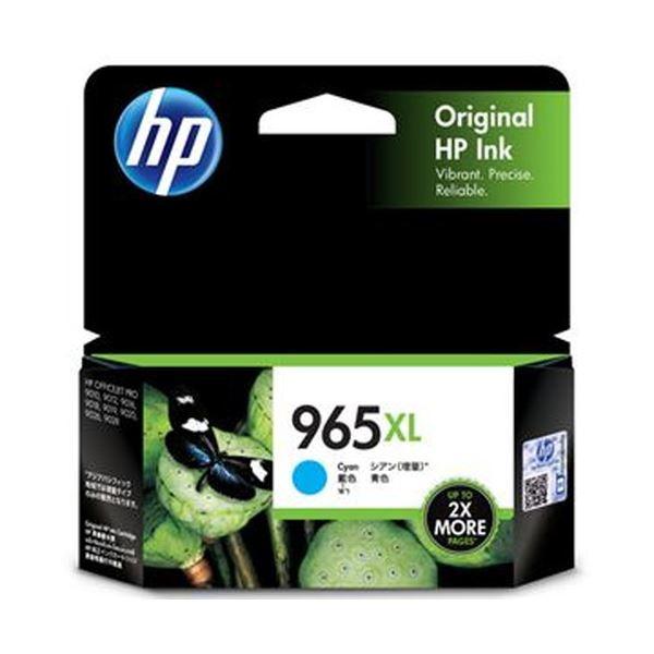 【送料無料】(まとめ)HP HP965XL インクカートリッジシアン 3JA81AA 1個【×5セット】