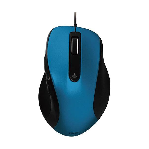 (まとめ) ナカバヤシ有線静音5ボタンブルーLEDマウス ブルー MUS-UKF108BL 1個 【×5セット】