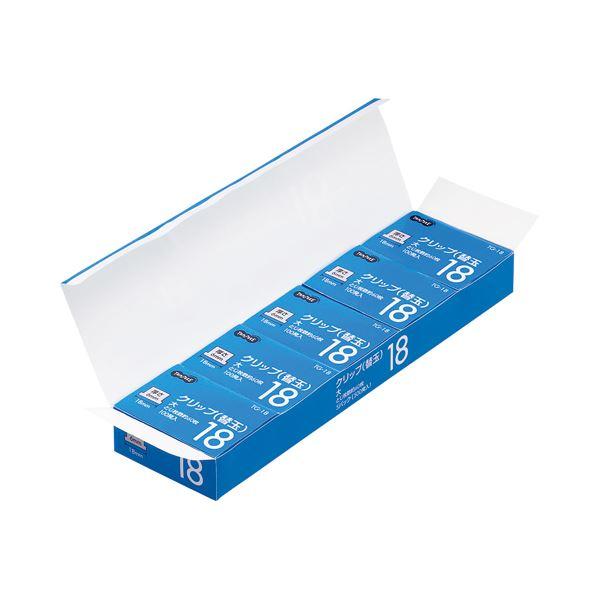 (まとめ) TANOSEE 替玉クリップ 大 1セット(500発:100発×5箱) 【×5セット】